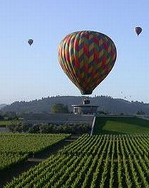 Mikael Frank Audebert blog, hot air balloon over nappa valley